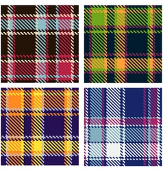 tartan patterns vector image vector image