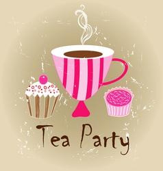 tasty tea vector image vector image