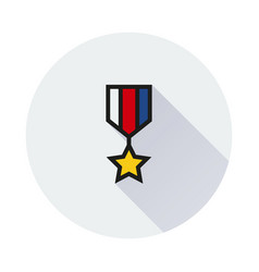 The medal icon honor symbol on white background vector