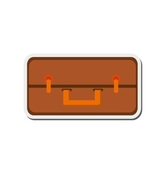 travel suitcase topview icon vector image