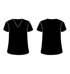 Unisex v neckline t-shirt template front vector