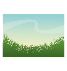 Green grass plant design vector