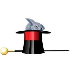 Magick hat rabbit vector image