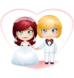 Bride And Groom Getting Married 4 vector image