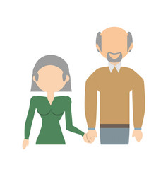 elderly couple family image vector image