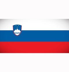 National flag of slovenia vector