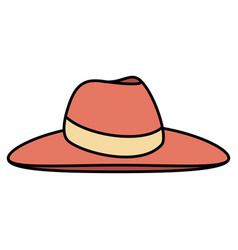 Female beach hat icon vector