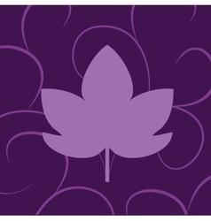leaf of grape violet vector image
