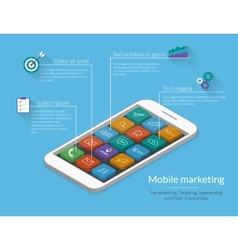 Mobile marketing vector