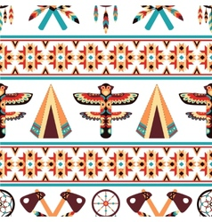 Ethnic border pattern design vector