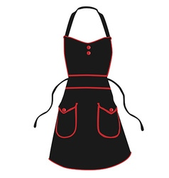 Black apron vector