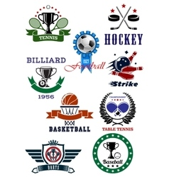 Set of sport games icons and symbols vector