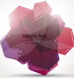 Abstract pink design vector