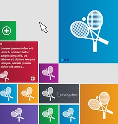 Tennis icon sign buttons modern interface website vector