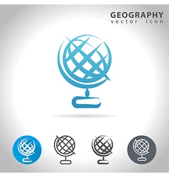 Geofraphy blue icon vector