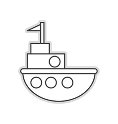 Toy fishing boat icon vector
