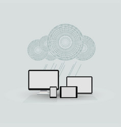 a cloud of numbers with computers vector image