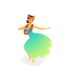 A hawaiian hula dancer woman vector