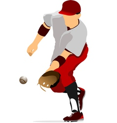 al 0947 baseball 02 vector image vector image
