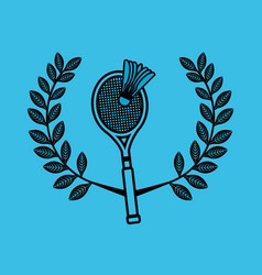 Badminton sport emblem icon vector