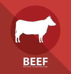 beef cow vector image