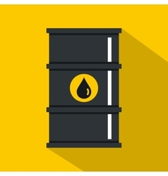 Black oil barrel icon flat style vector image vector image