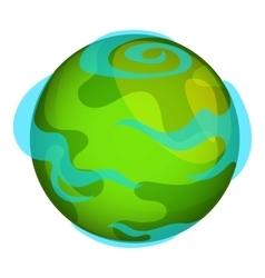 Earth planet icon cartoon style vector