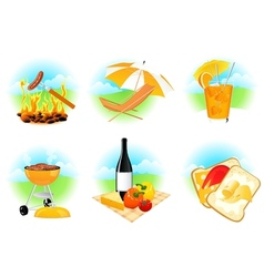 Leisure icons vector image vector image