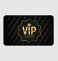 Luxury members gift card template for your vector