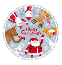 merry christmas image vector image vector image