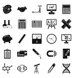Numerator icons set simple style vector