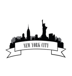 nyc cityscape urban city skyline travel usa vector image