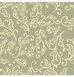 Old lace background floral ornament texture vector
