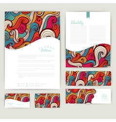Set of wave abstract cards invitations wave vector