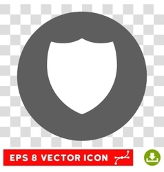 Shield round eps icon vector