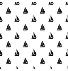Small yacht pattern simple style vector image vector image