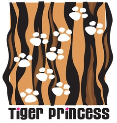 Tiger princess vector