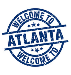Welcome to atlanta blue stamp vector