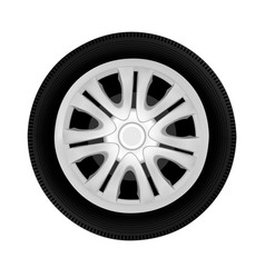 Wheel drive from the cars in on white backg vector