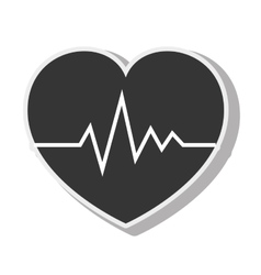 Cardio pulse heart design vector