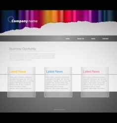 website template with stripes vector image