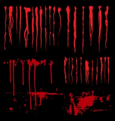 Blood drip and blood splatters vector