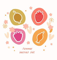 Summer berry design vector