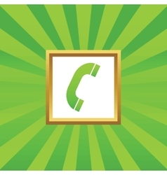 Call picture icon vector
