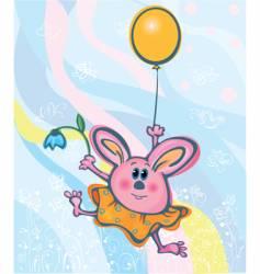 Bunny easter card vector