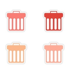 Assembly realistic sticker design on paper trash vector
