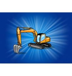 excavator vector image