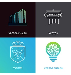 Set of logo design templates and emblems - vector