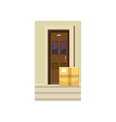 Delivery service icon cartoon style vector image