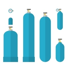 Oxygene tanks set vector